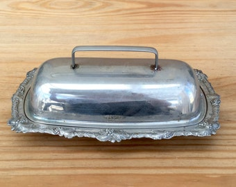 Art Deco Butter Dish 1930s Cheese Dish Vintage Kitchen Serving