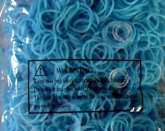 Light Blue Rubber Band Loom Refills - 1000 count Kids Craft Bands Other colors listed separately, will combine shipping (O-rings included)
