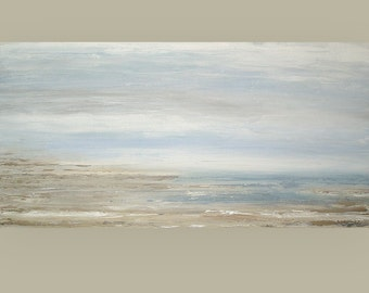 """Art, Large Painting, Original Abstract, Acrylic Paintings on Canvas by Ora Birenbaum Titled: Take Me Away 30x60x1.5"""""""