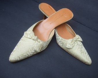 STUBBS & WOOTTON Mint Green Mules US Size 9.5 B Made in Italy
