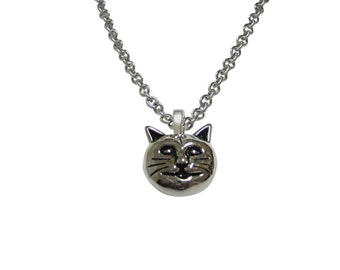Cat Head Pendant Necklace