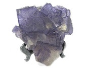 Purple Fluorite Crystals with with etched back Elmwood Tennessee Large Mineral Specimen, from an estate collection