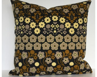 Vintage 60s 70s Peter Hall Cascade Fabric Cushion Cover