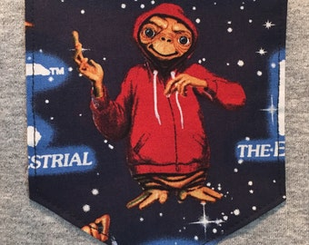 E.T. Extra terestrial Pocket tee shirt s/m/l/xl/2xl/3x