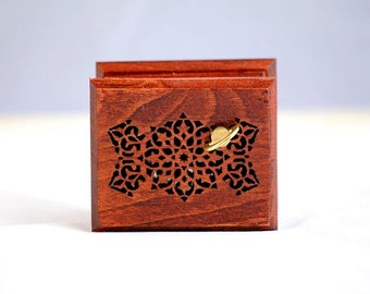 Lullaby music box islamic arabic ornament art texture from Brahms wooden box