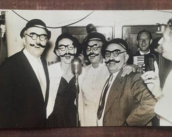 Original Vintage Photograph Mustache Men