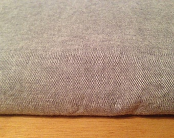 Grey Cotton Fabric By the Yard F48