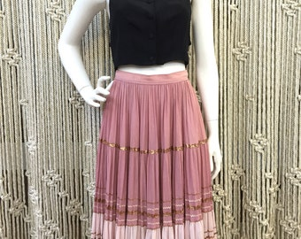 Beautiful 1940's pink and copper squaw skirt