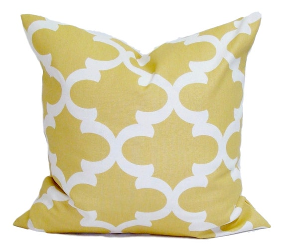 yellow pillow cover 20x20