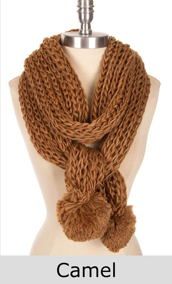 knit knitted item scarf best selling items pom pom