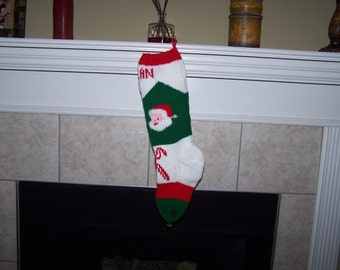Pattern for the Candy Cane Stocking