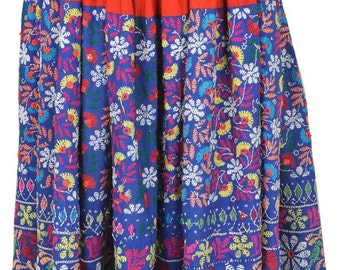 Vintage banjara skirt hobo gypsy belly dance tribal art India BU13