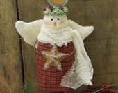 Primitive Angel Ornament Prim Christmas Winter Holiday Decoration