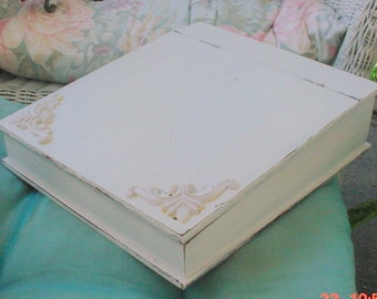 Vintage Wood Lapdesk Lap Desk Decorated Cottage Shabby Chic OOAK