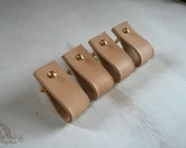Leather Drawer Pulls Cabinet Pulls Furniture Upgrade Leather Brass Fittings Leather Goods Handles
