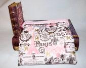 Paris Cotton and Light Pink Fleece Snuggle Bag