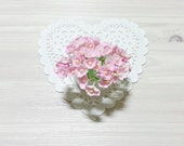 Forget Me Nots Flowers - Vintage Pink