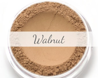 "Mineral Wonder Powder Foundation Sample - ""Walnut"" - medium shade with a pink undertone - vegan makeup"
