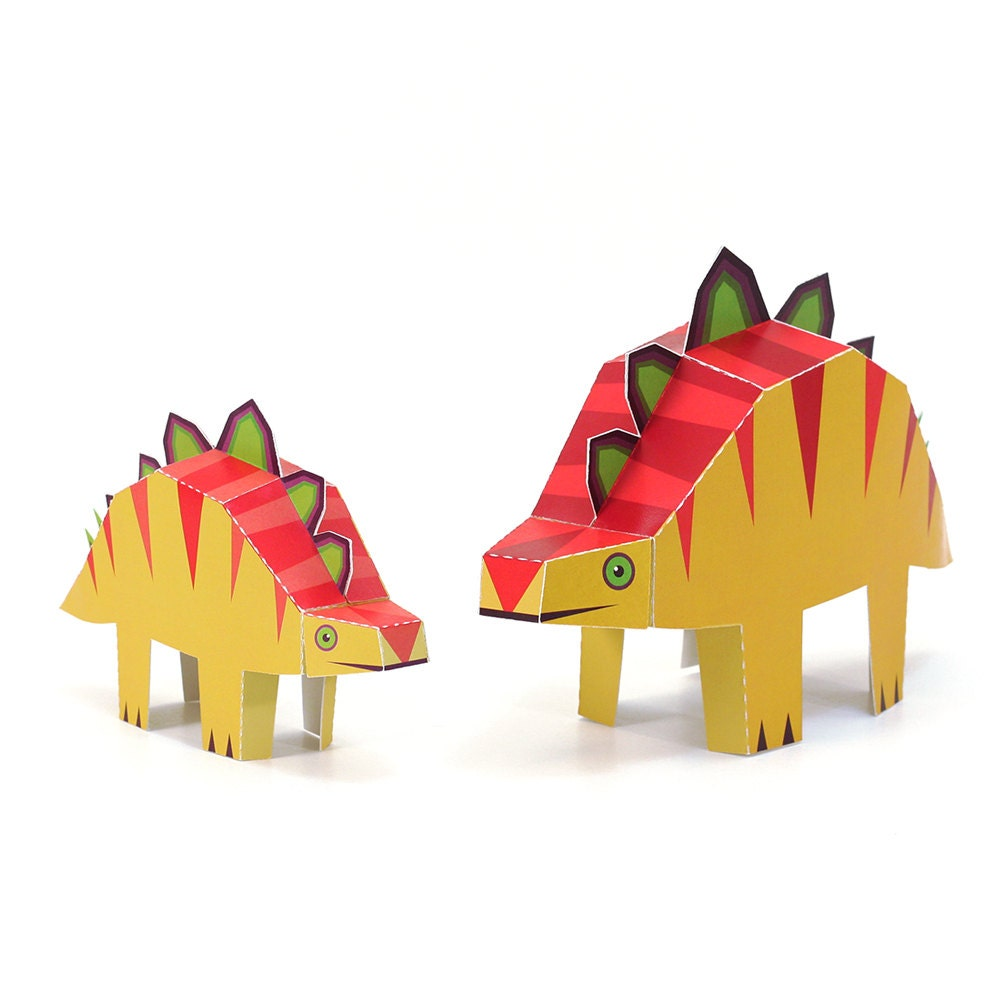 Maxi stegosaurs paper toys diy paper craft kit 3d paper sold by pukaca jeuxipadfo Image collections