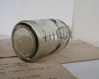 Antique Soviet Vintage Glass - Craft Supply - Specimen Bottle - 1970's