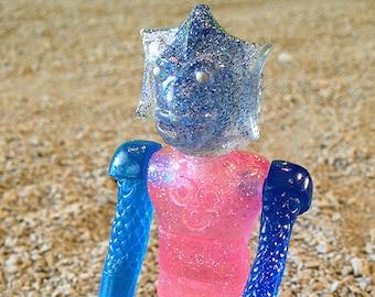 SEA-BORG MUTATION  Wave 2 Plastic Resin Figure - pink blue queen glitter