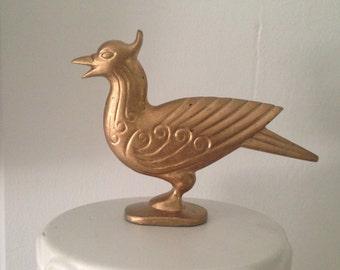 Vintage Golden Bird Figurine Paperweight