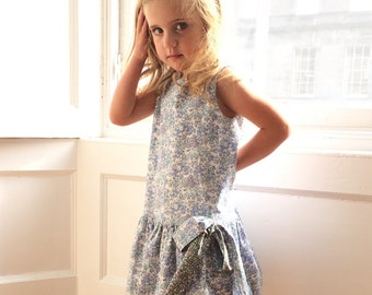 Girl's Liberty Print Bow Dress | 4 to 10 years | Tom