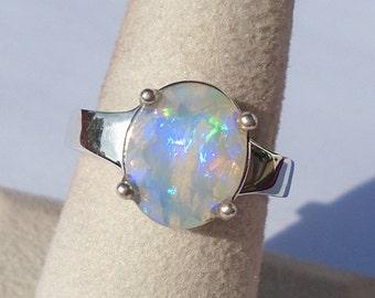 Ethiopian Welo Opal Sterling Silver Ring Size 7 WAS 90.00 On SALE 80.00