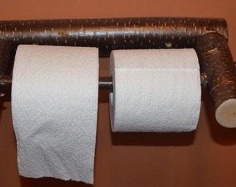 Rustic Log Toilet Paper Holder