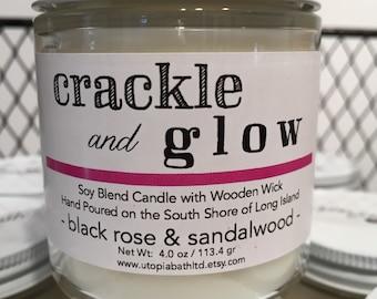 Utopia Bath Soy Candle, Black Rose and Sandalwood