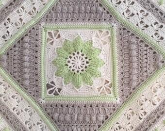 Crochet Vintage Look Cotton Blanket/Throw