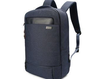 Simple Air mesh cushion Backpack with waterproof cover  (Navy)
