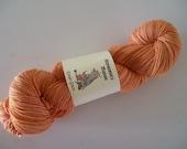 Eman Sock - 4ply fingering weight plied sock yarn - OOAK Apricot Peach