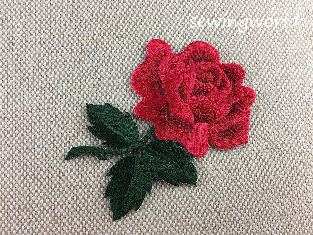 Iron on Patch Rose Flower Patch Embroidered Patch for Jeans