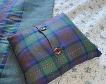 Tartan Cushion Cover, Isle of Skye tartan, 100% pure new wool. Customisation available.