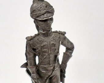 French Vintage Hand made Pewter Figurine Napoleon army soldier