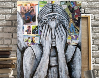 Doctor Who Canvas Print of The Weeping Angel
