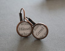 Hansel and Gretel Grimm Brothers Fairy Tale Earrings