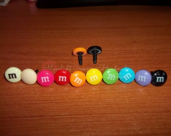 Flower and M&Ms Anti-Dust Plug for cell phone 3.5mm