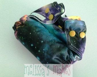 Galaxy newborn - Newborn Diaper - Newborn Cloth Diaper - Newborn Nappie - Baby Shower Gift - New Mom Gift - AIO Diaper - First Baby Gift