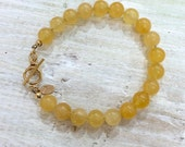 Calcite Gemstone Bracelet - CONFIDENCE & POWER - 3rd Chakra - ZEN Jewelry - Positive Energy Jewelry