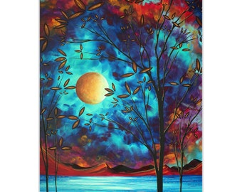 Coastal Landscape 'Visionary Delight' by Megan Duncanson - Abstract Tree Art Landscape Painting on Metal or Acrylic