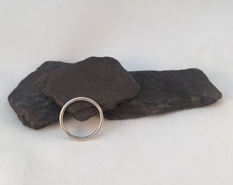 Contemporary Slim Sterling Silver Halo Ring