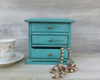 Turquoise Upcycled Jewelry Box
