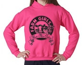 ON SALE Farm Girls Have Nice Calves Hoodie Sweatshirt Adult Sizes
