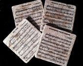 Beatles sheet music coaster set. **Ask for free gift wrapping and have them sent directly to the recipient!**