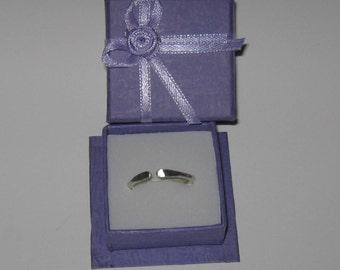 925.Sterling Silver Ring 12ga Adjustable Plain Silver Band
