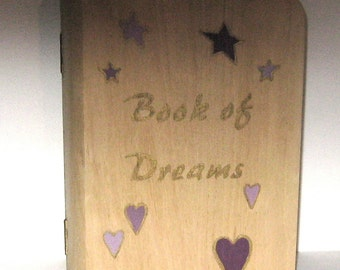 Hand Painted, Wood, Trinket,  Jewelry Box,Stars and Hearts