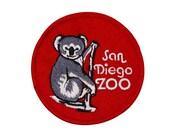 """California """"San Diego Zoo"""" Koala Patch Animal Park Souvenir Iron-On Applique"""