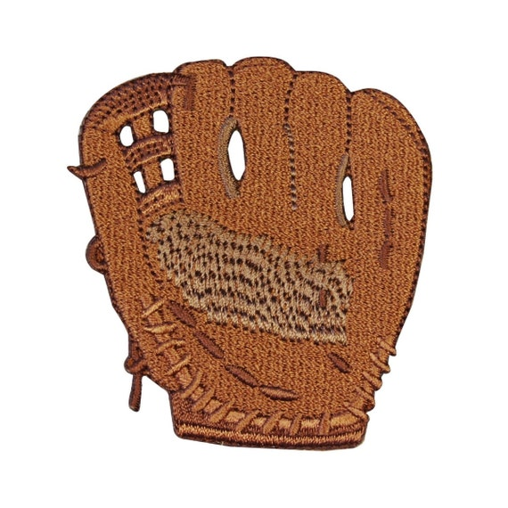 id 1457 baseball mitt glove patch fun kids sport hobby craft. Black Bedroom Furniture Sets. Home Design Ideas